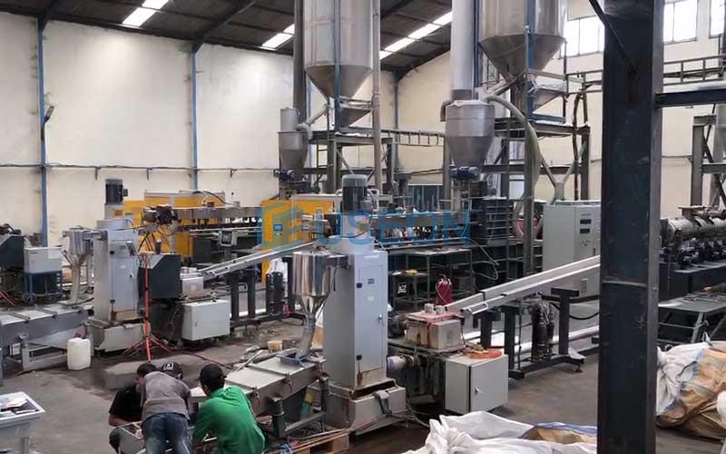 1000kg/h PET瓶片回收产线 印度尼西亚