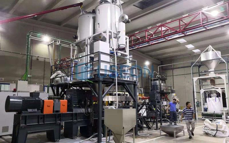 600~700kg/h PET瓶片回收生产线 西班牙
