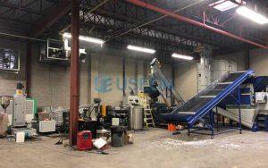 900~1100kg/h PET回收造粒 加拿大客户
