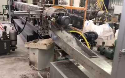 1200kg/h PE填料母粒生产线 阿根廷