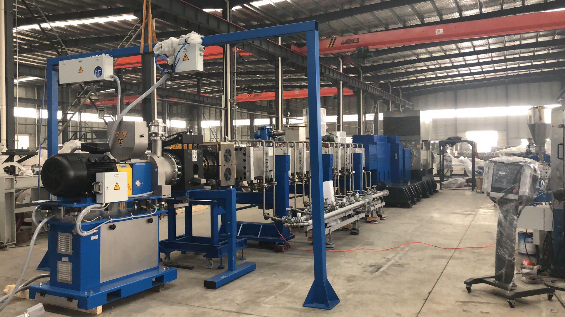 7万吨/年聚丙烯双螺杆挤出造粒机组顺利通过出厂验收