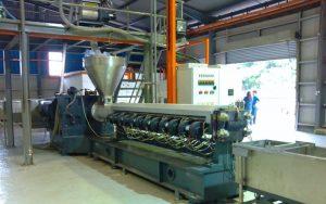 1000kg/h 滚塑成型造粒生产线 英国